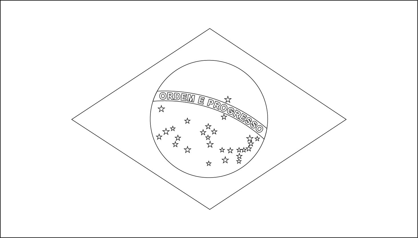 Printable Brazil Flag Coloring Worksheet   Flag Stickers And More - Free Printable Brazil Flag
