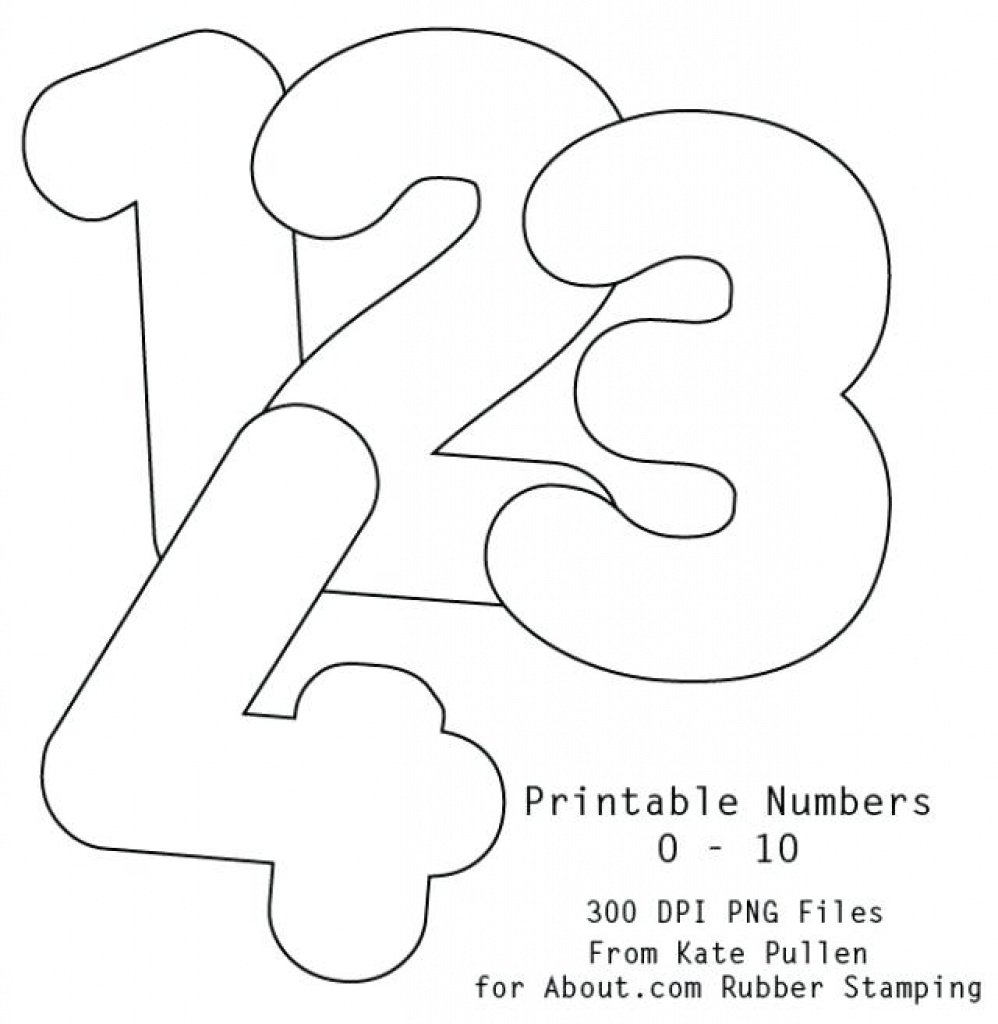 Printable Bubble Number 2 Stencil Letter H Numbers 1 20 With Free - Free Printable Bubble Numbers