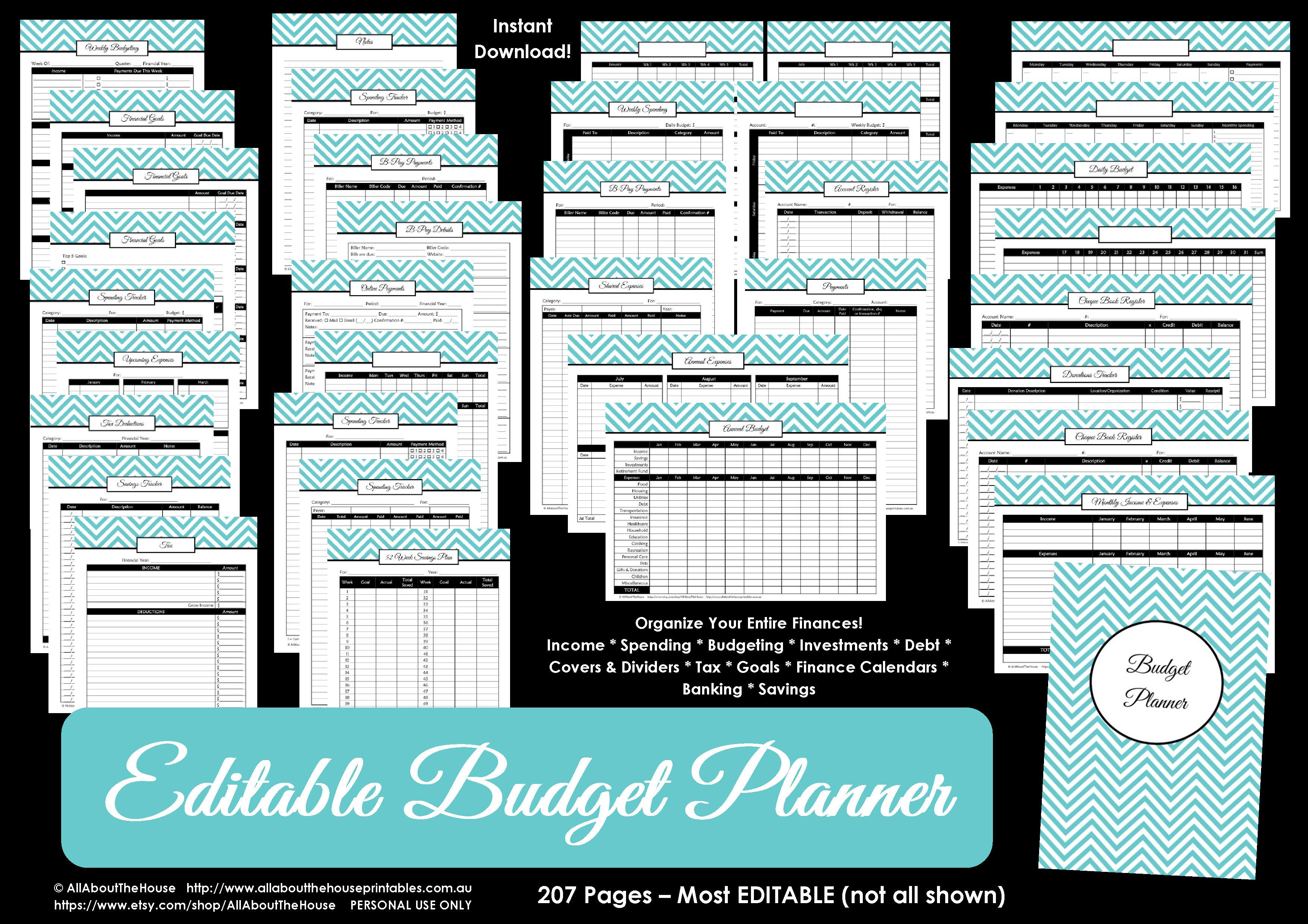 Printable Budget Planner/finance Binder Update - All About Planners - Free Printable Financial Planner 2017