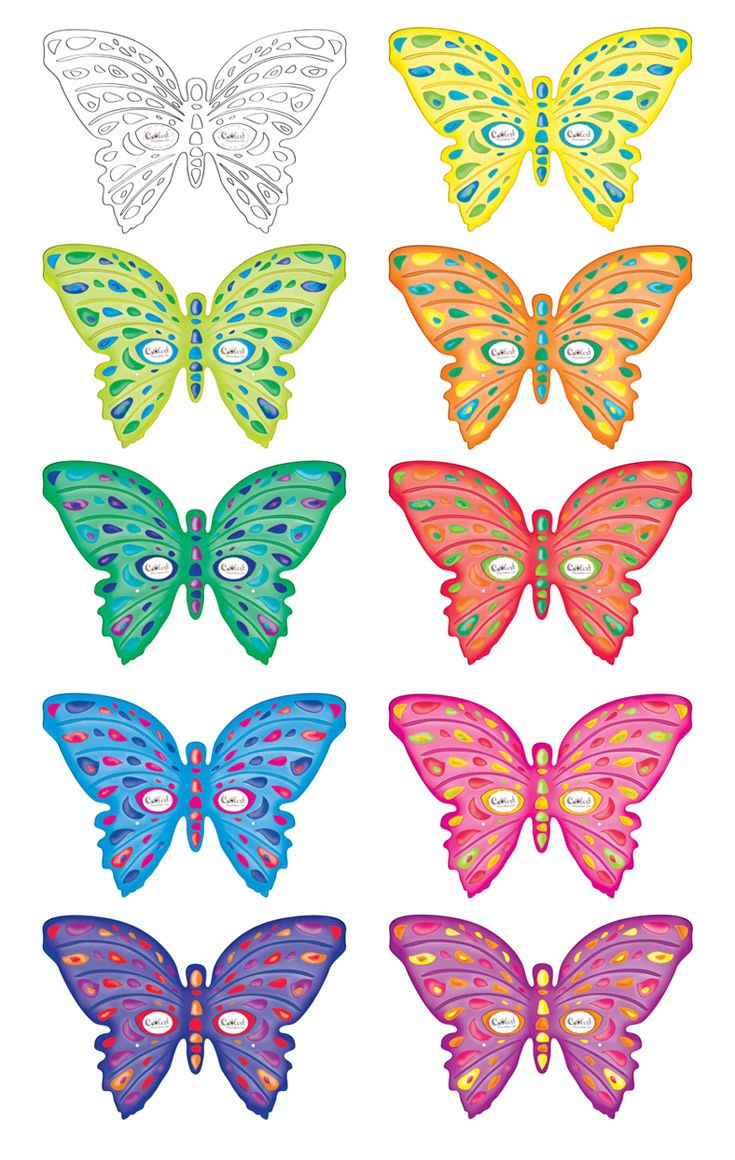 Printable Butterfly Masks - Coolest Free Printables | Saving - Free Printable Butterfly Cutouts