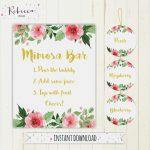 Printable Calibration Labels Mimosa Bar Sign Juice Labels Mimosa Bar   Free Printable Mimosa Bar Sign