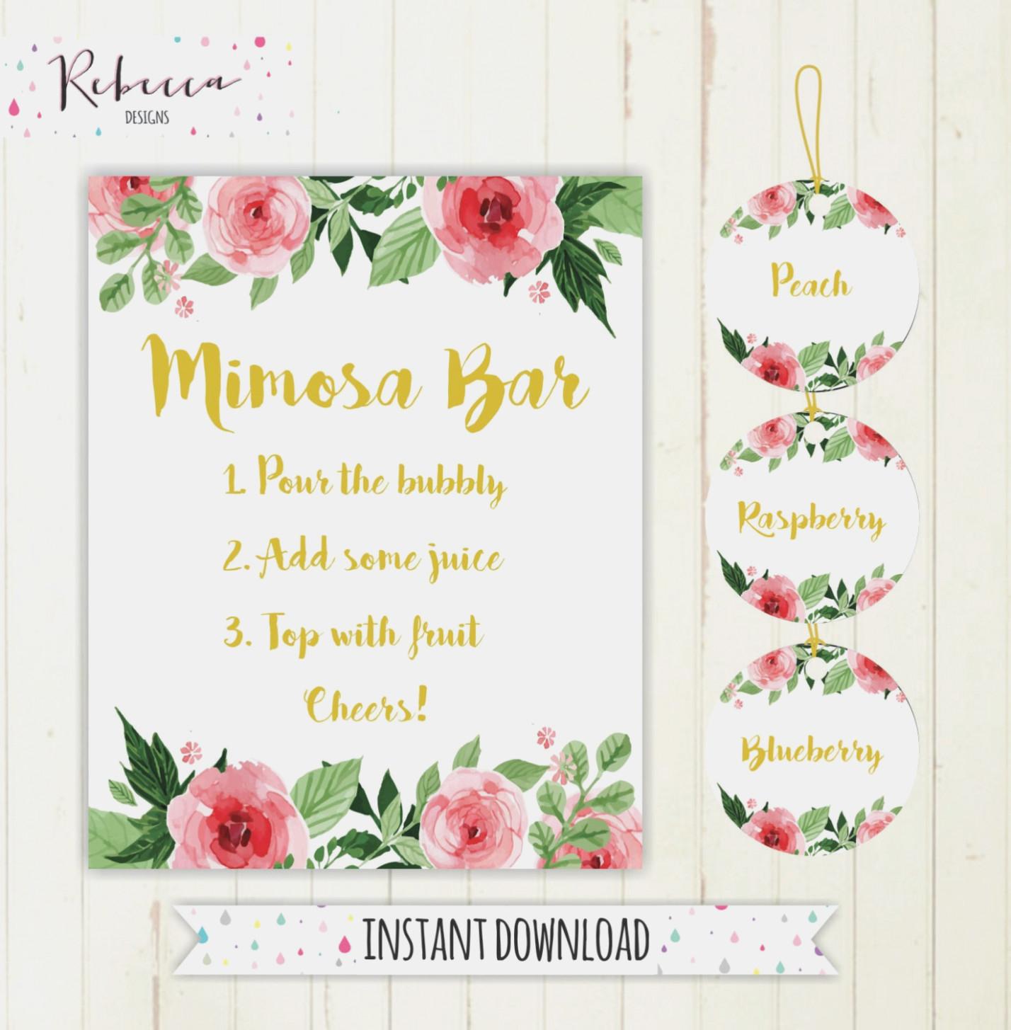 Printable Calibration Labels Mimosa Bar Sign Juice Labels Mimosa Bar - Free Printable Mimosa Bar Sign