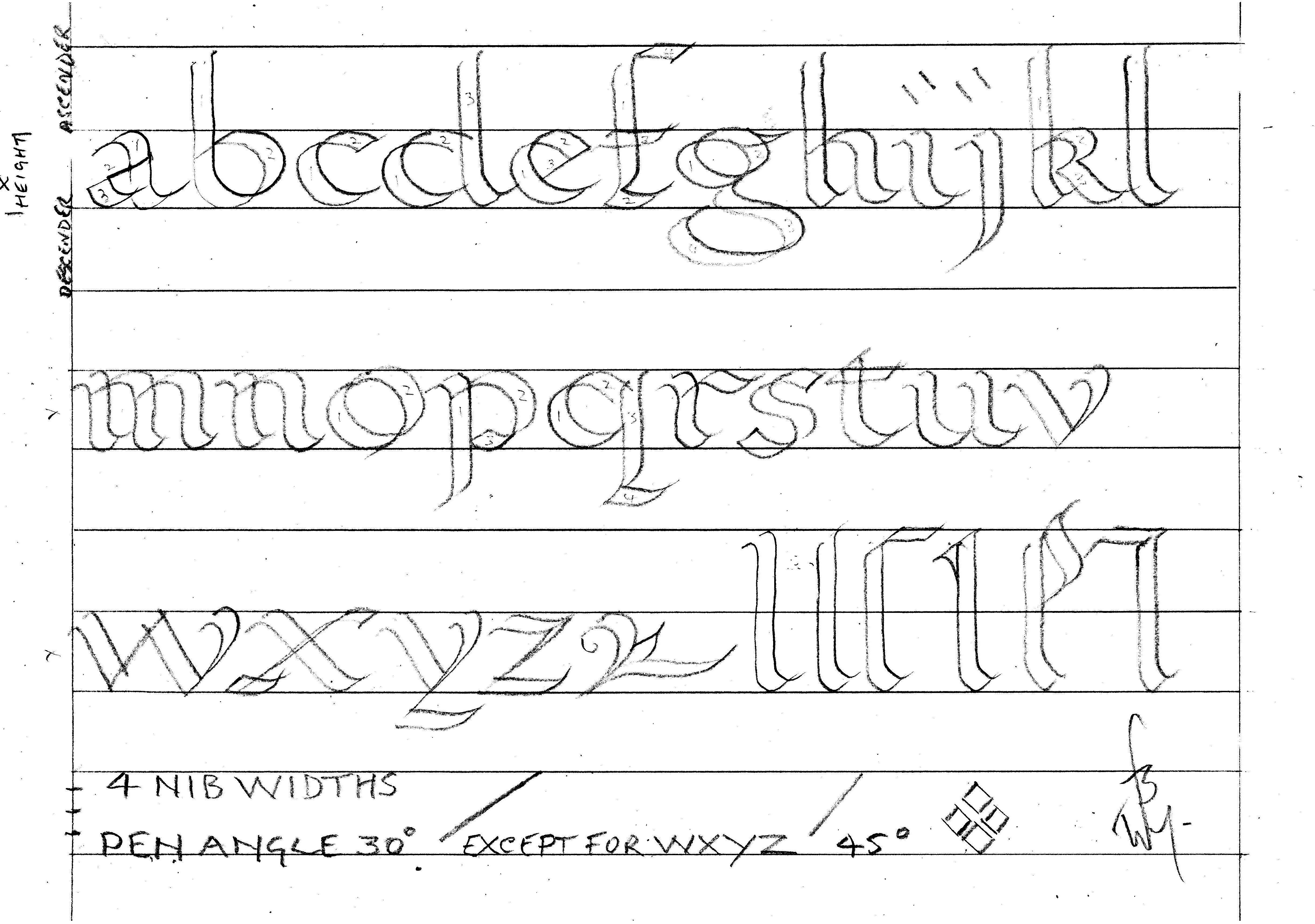 Printable Calligraphy Practice Worksheets   Bill's Space - Calligraphy Practice Sheets Printable Free