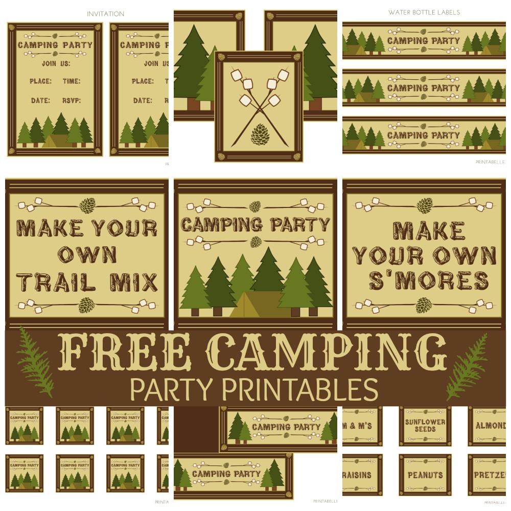 Printable Camping Signs   Download Them Or Print - Free Printable Camping Signs