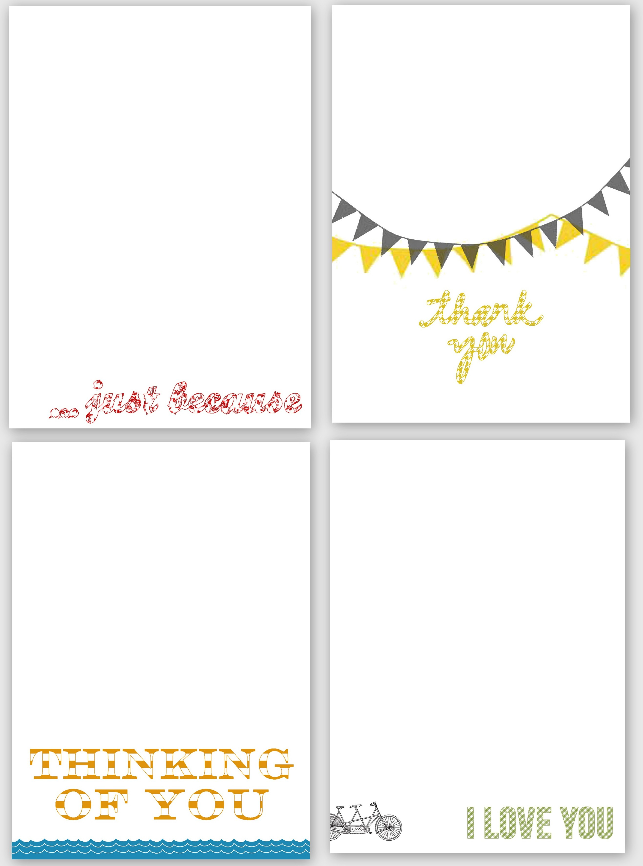 Printable Cards Just Because | Download Them Or Print - Free Printable Cards For All Occasions