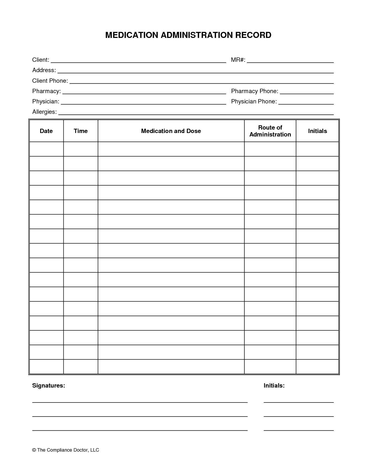 Printable Chart Printable-Medication-Chart-Daily-4 Printable - Medication Chart Printable Free