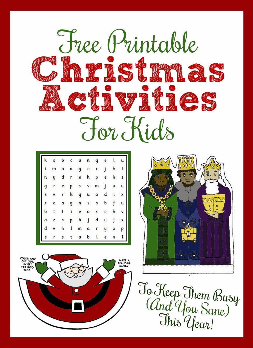 Printable Christmas Activities For Kids - Thecraftpatchblog - Free Printable Craft Activities