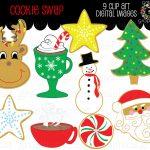 Printable Christmas Clipart   Free Printable Christmas Clip Art