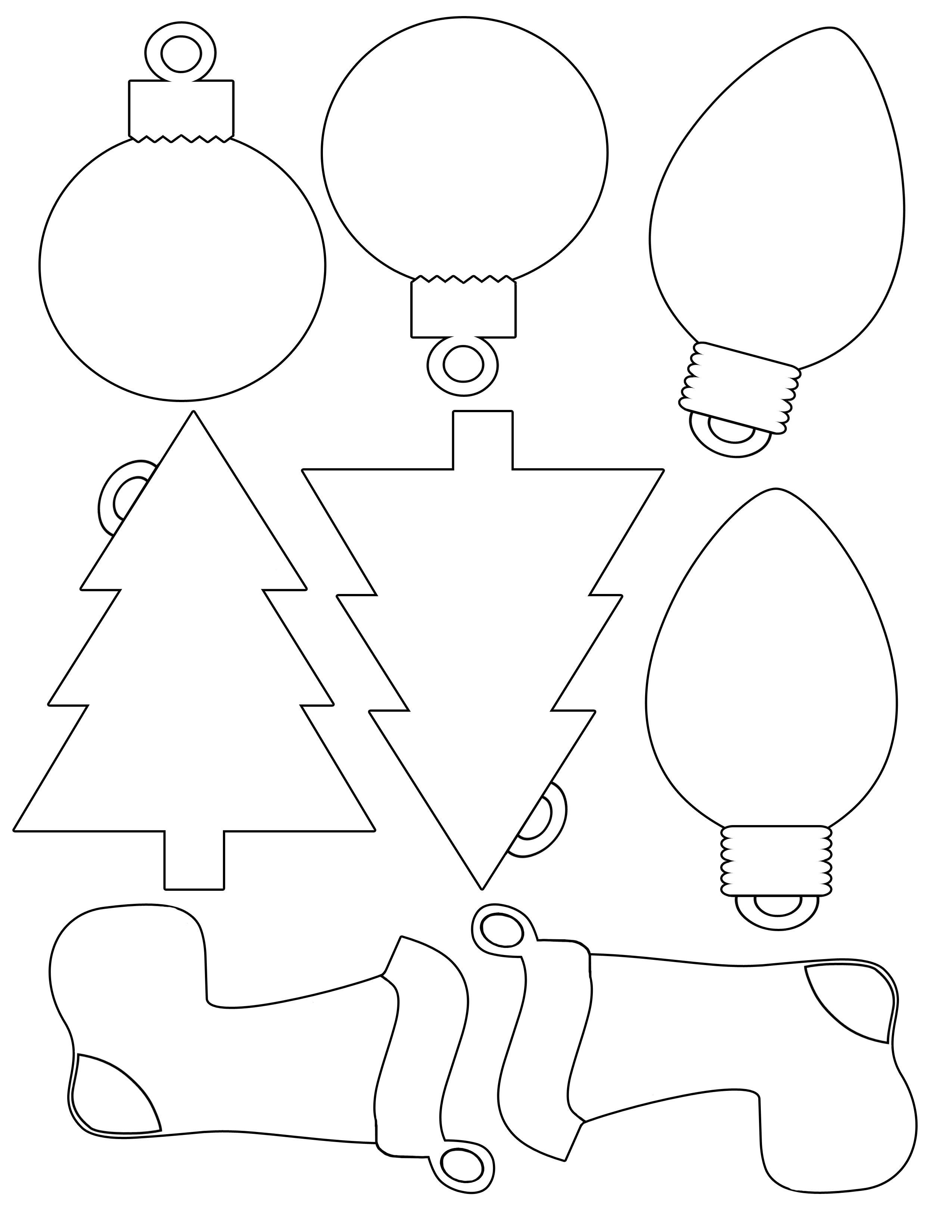 Printable Christmas Envelope    For Christmas Shapes For Gift - Free Printable Christmas Ornament Patterns