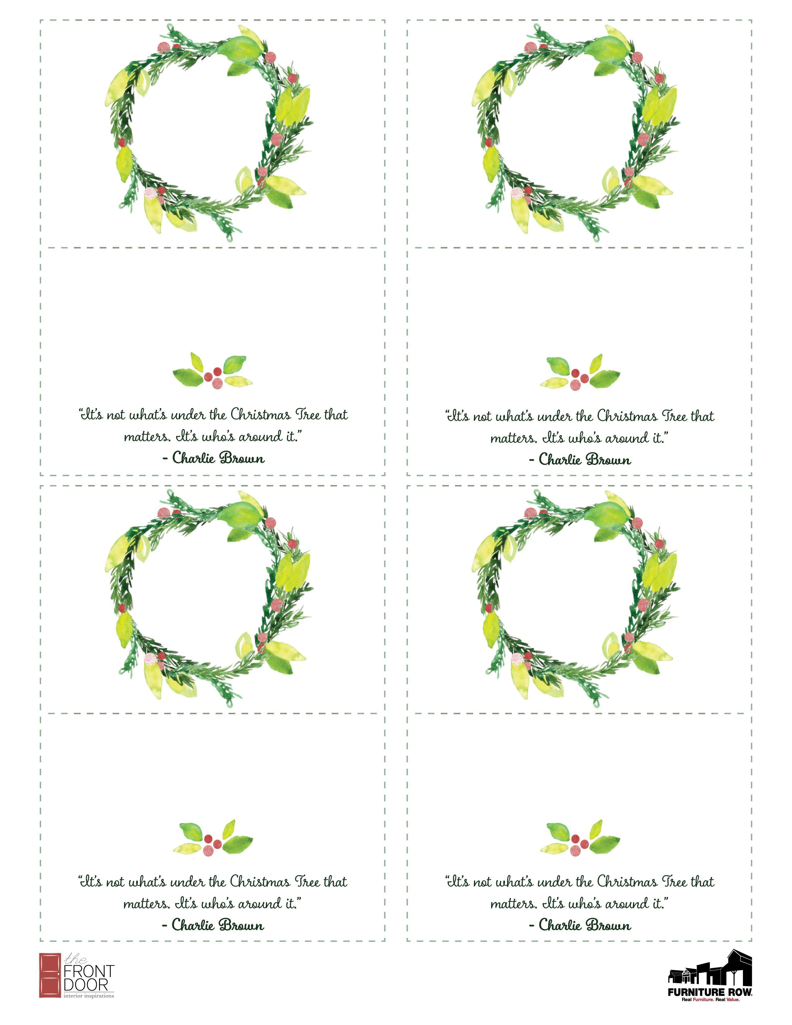 Printable Christmas Place Name Cards For The Table   Holiday - Christmas Table Name Cards Free Printable