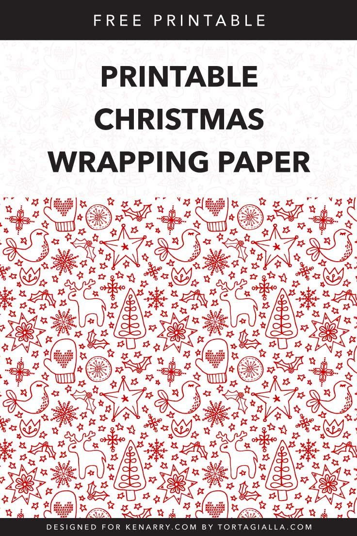 Printable Christmas Wrapping Paper : Free Download | Kenarry - Free Printable Santa Paper