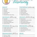 Printable Cleaning Checklists For Daily, Weekly And Monthly Cleaning   Free Printable Cleaning Schedule
