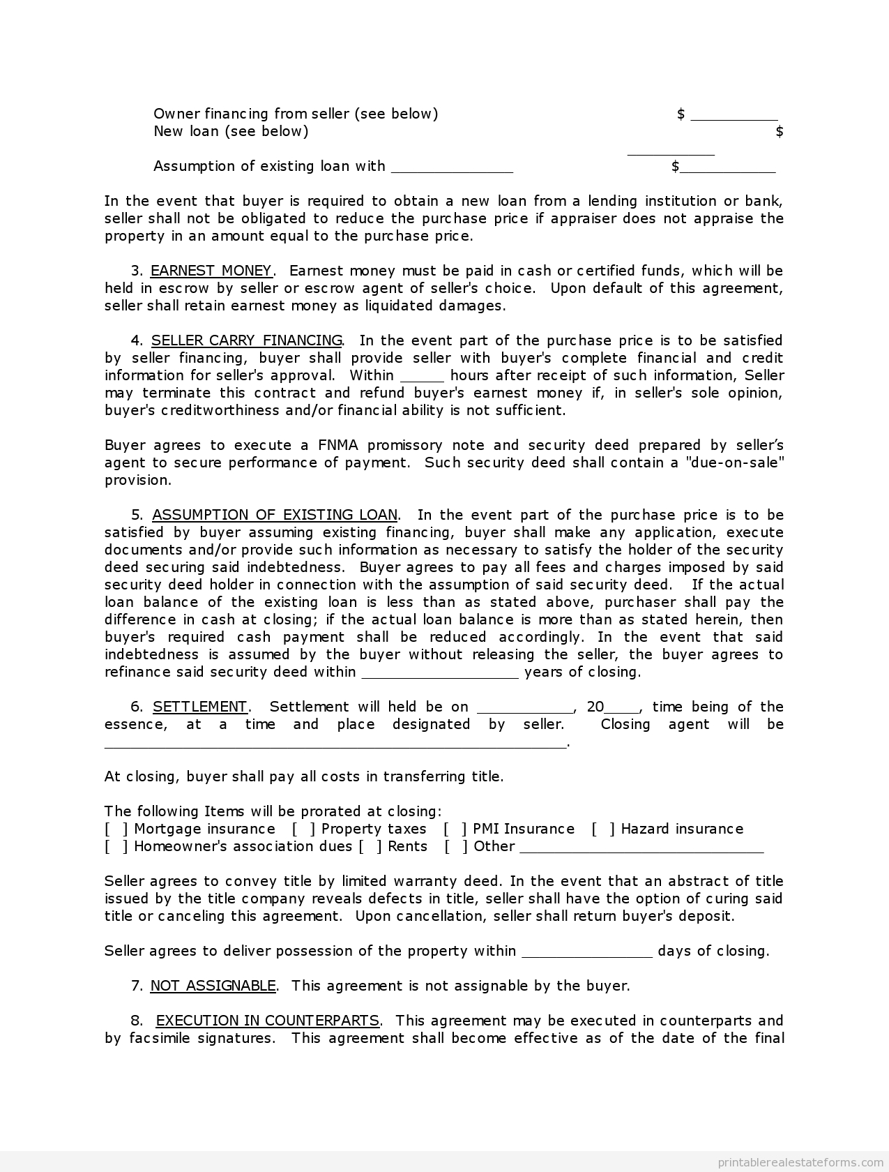 Printable Contract To Sell On Land Contract Template 2015 | Sample - Free Printable Land Contract Forms