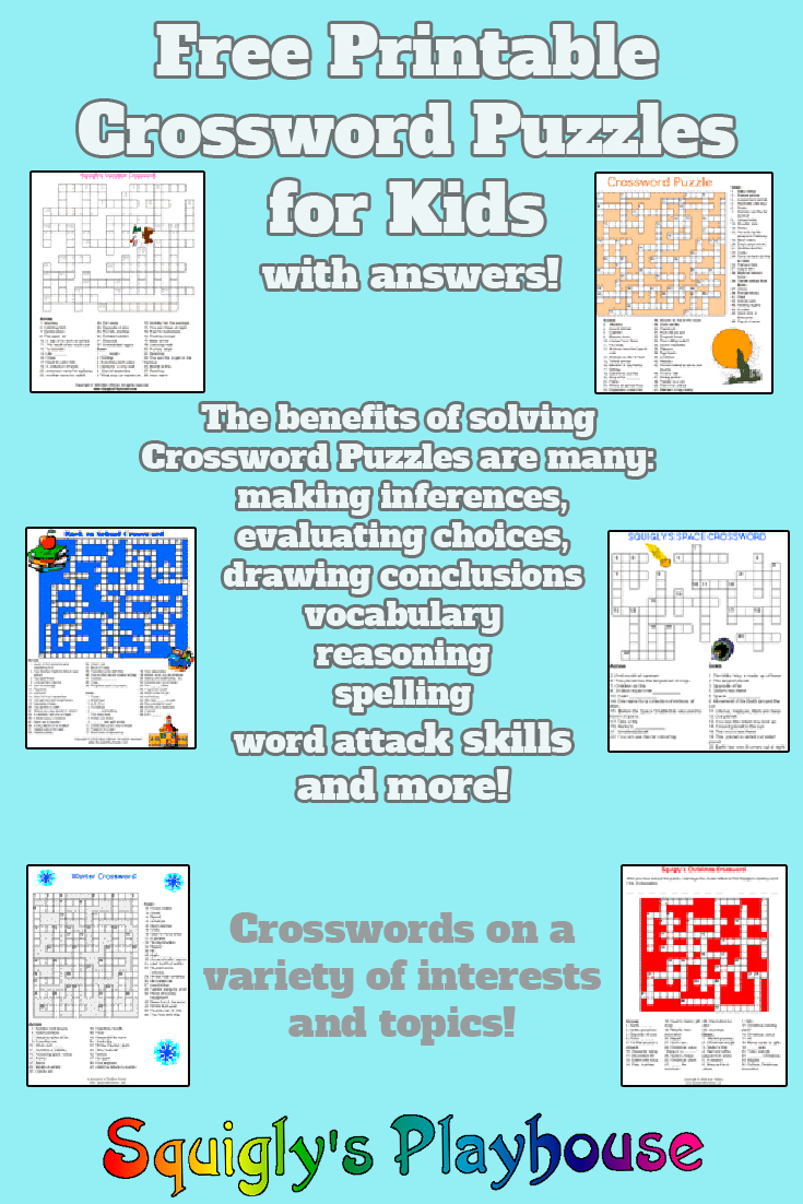 Printable Crossword Puzzles For Kids | My Classroom | Printable - Free Printable Variety Puzzles