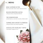 Printable Dinner Party Menu Template | Party Planning | Pinterest   Free Printable Dinner Party Menu Template