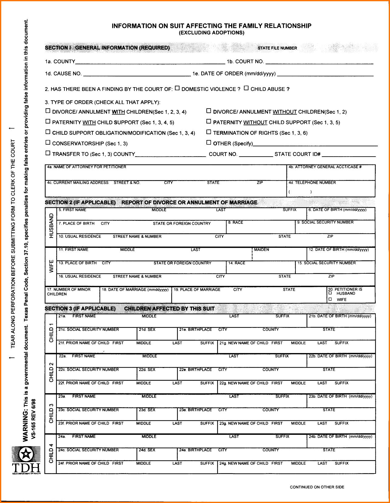 Printable Divorce Papers Florida Free Fake Forms Sample Documents - Free Printable Divorce Decree Forms