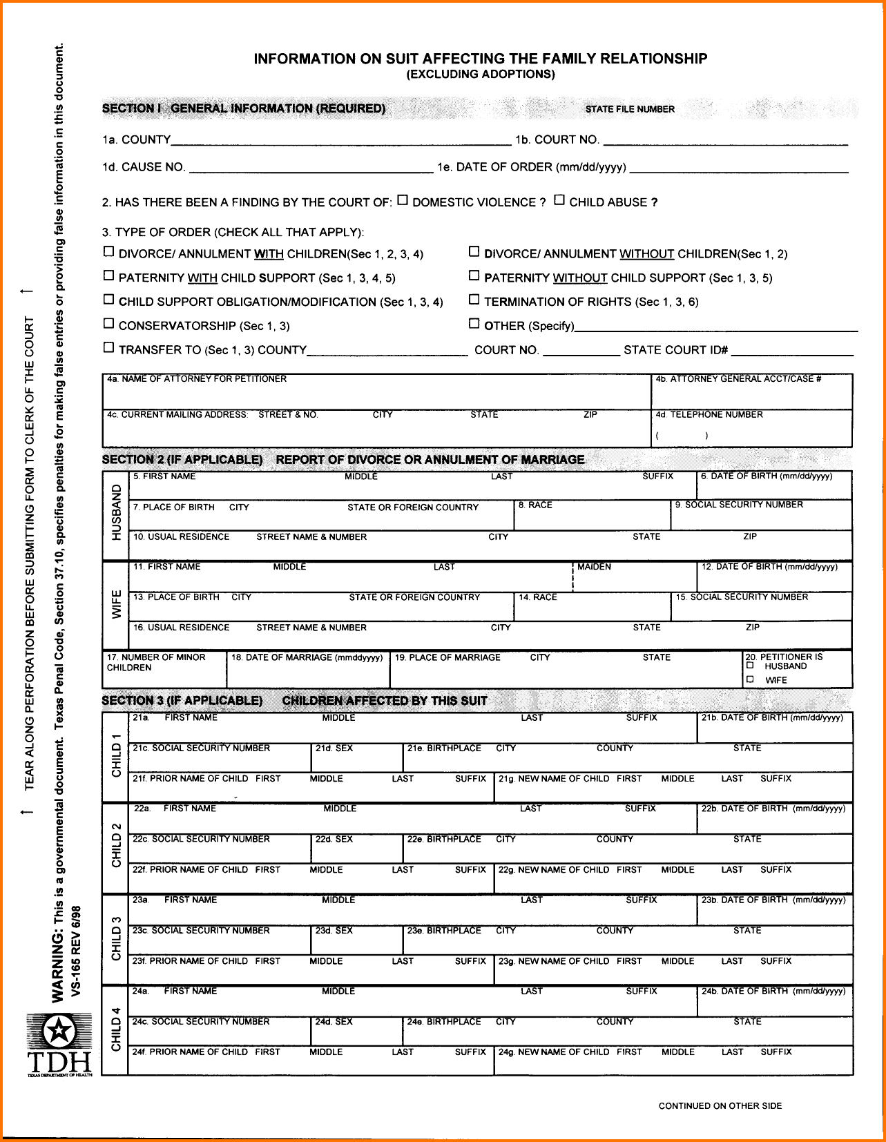 Printable Divorce Papers Florida Free Fake Forms Sample Documents - Free Printable Documents