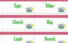 Printable Easter Game Cards For Pictionary, Charades, Hangman And 20 – Free Printable Pictionary Cards