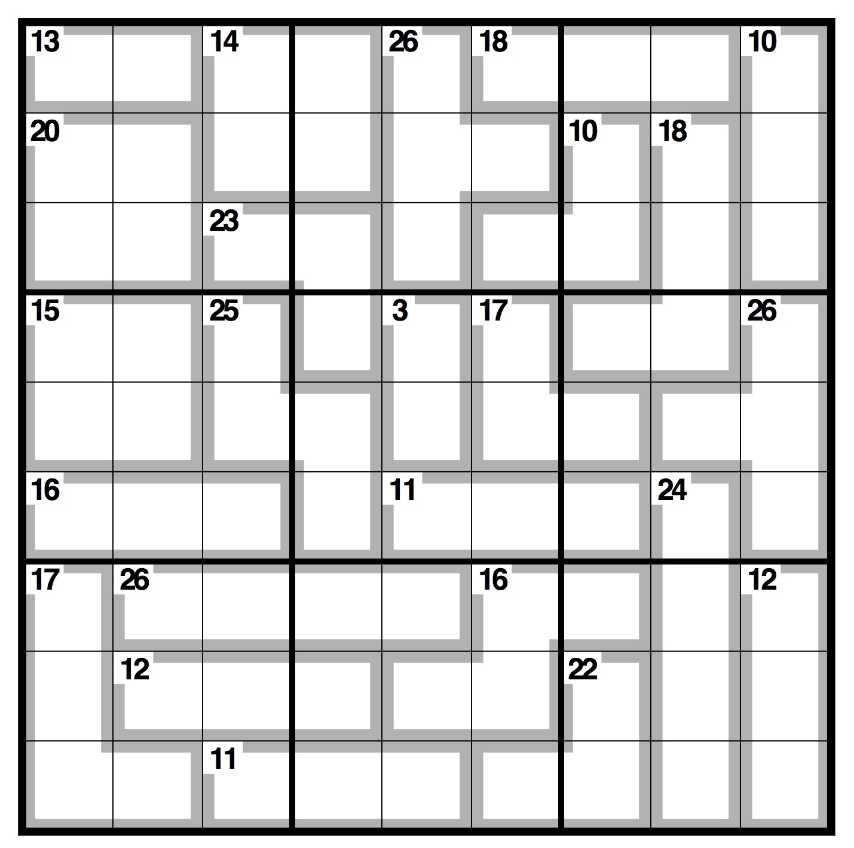 Printable Easy Killer Sudoku   Download Them Or Print - Killer Sudoku Free Printable