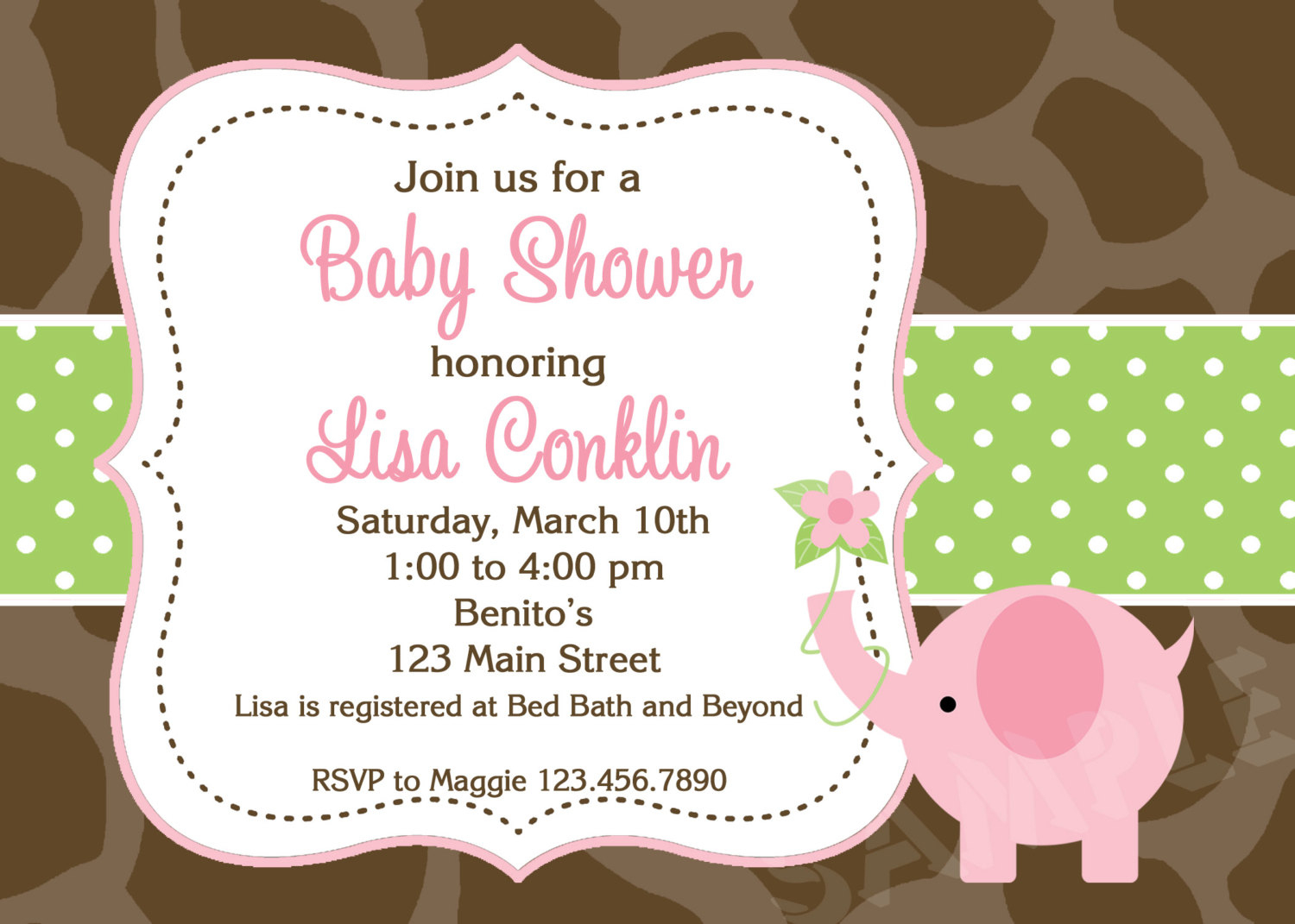 Printable Elephant Baby Shower Invitations My Face Burns After Shower - Baby Shower Cards Online Free Printable