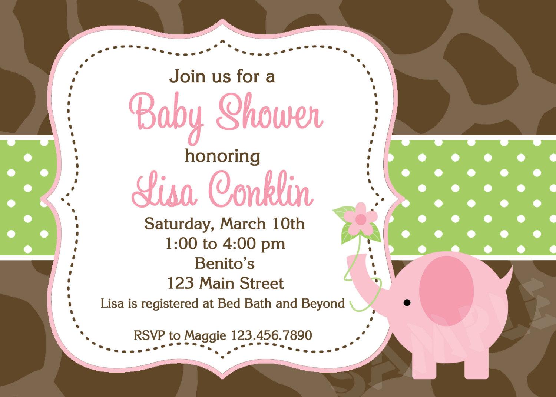 Printable Elephant Baby Shower Invitations My Face Burns After Shower - Free Printable Elephant Baby Shower Invitations