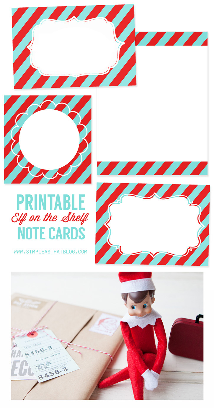 Printable Elf On The Shelf Note Cards - Free Printable Elf On The Shelf Notes