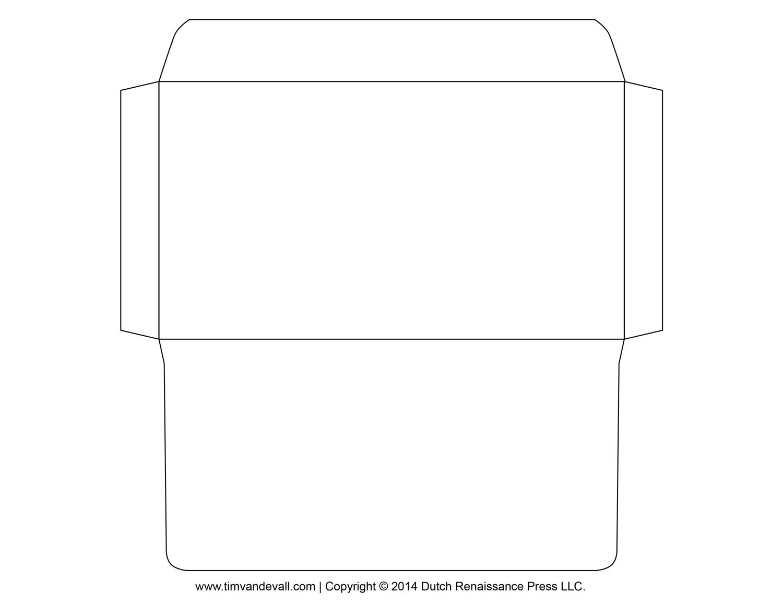 Printable Envelope Template – Professional Resume Template - Free Printable Envelope Size 10 Template