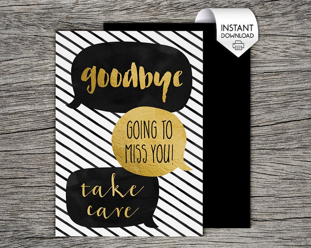 Printable Farewell Cards | Www.topsimages - Free Printable Farewell Card For Coworker
