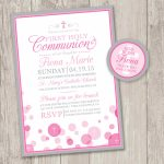 Printable : First Holy Communion Invitations & Free Matching | Etsy – Free Printable 1St Communion Invitations