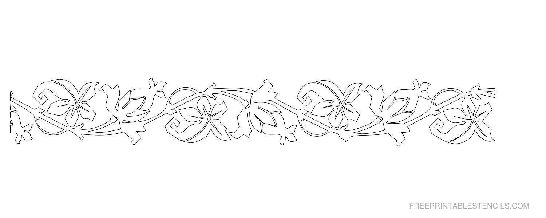 Printable Floral Border Stencils | Free Printable Stencils - Free Printable Flower Stencils