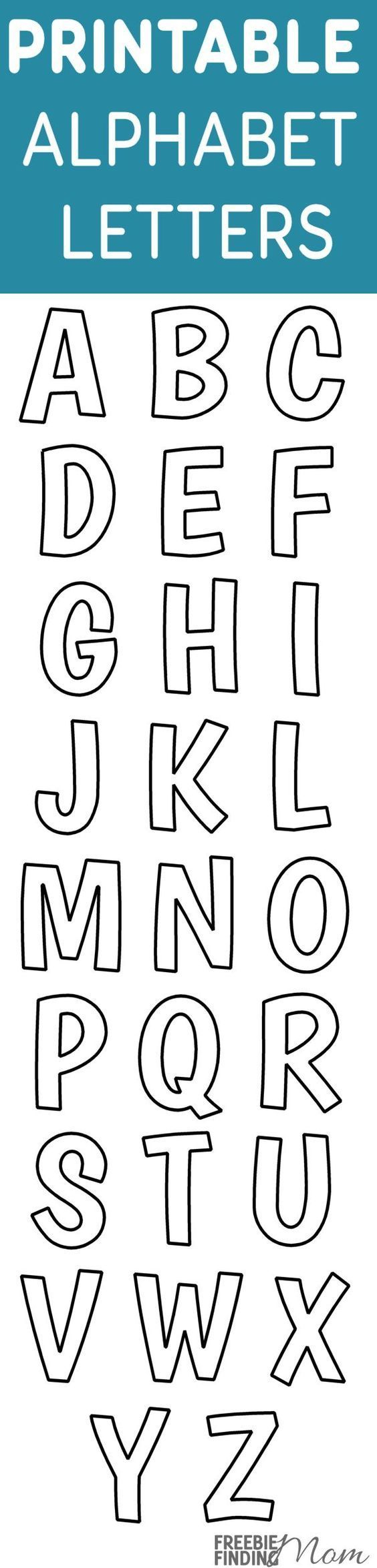 Printable Free Alphabet Templates | The Group Board On Pinterest - Free Printable Letter Templates