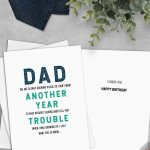 Printable Funny Birthday Card Instant Download Digital Greeting Card – Free Printable Funny Birthday Cards For Dad