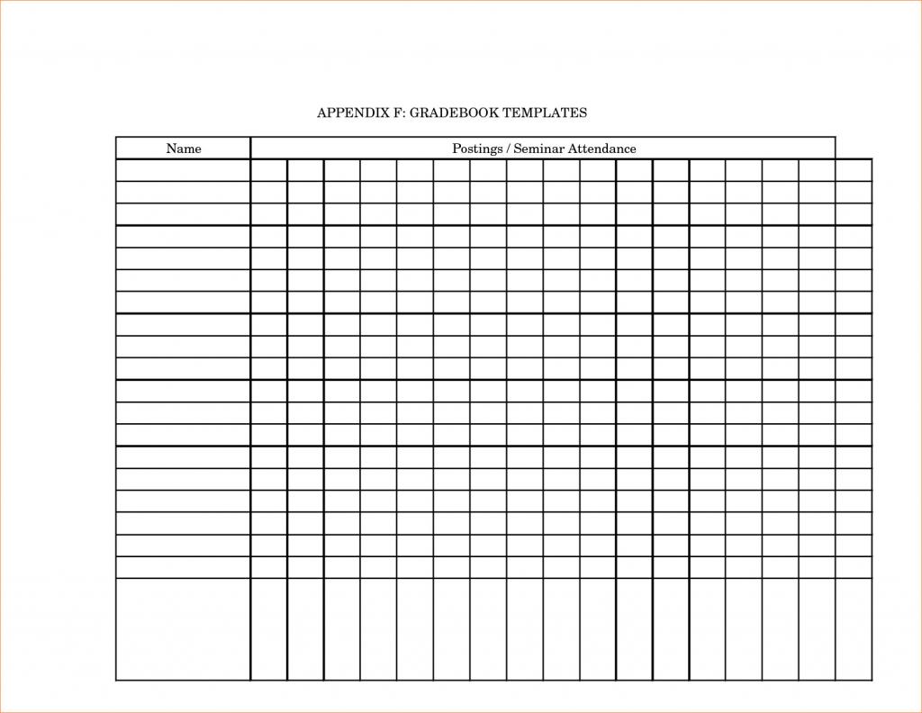 Printable Grade Book Template For Teachers - Southbay Robot Intended - Free Printable Gradebook