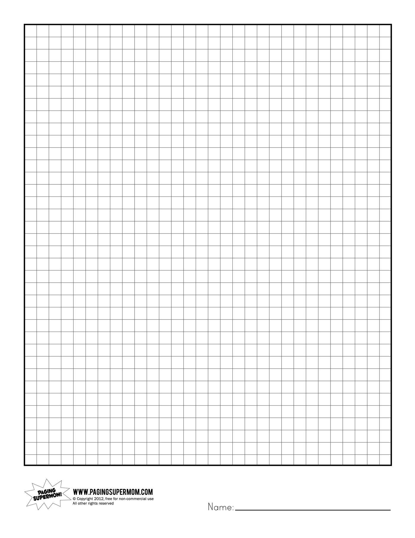 Printable Graph Paper | Healthy Eating | Printable Graph Paper - Free Printable Graph Paper For Elementary Students