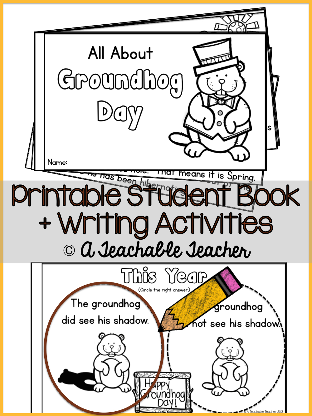 Printable Groundhog Day Book For Students. Teaches About The Ground - Free Printable Groundhog Day Booklet