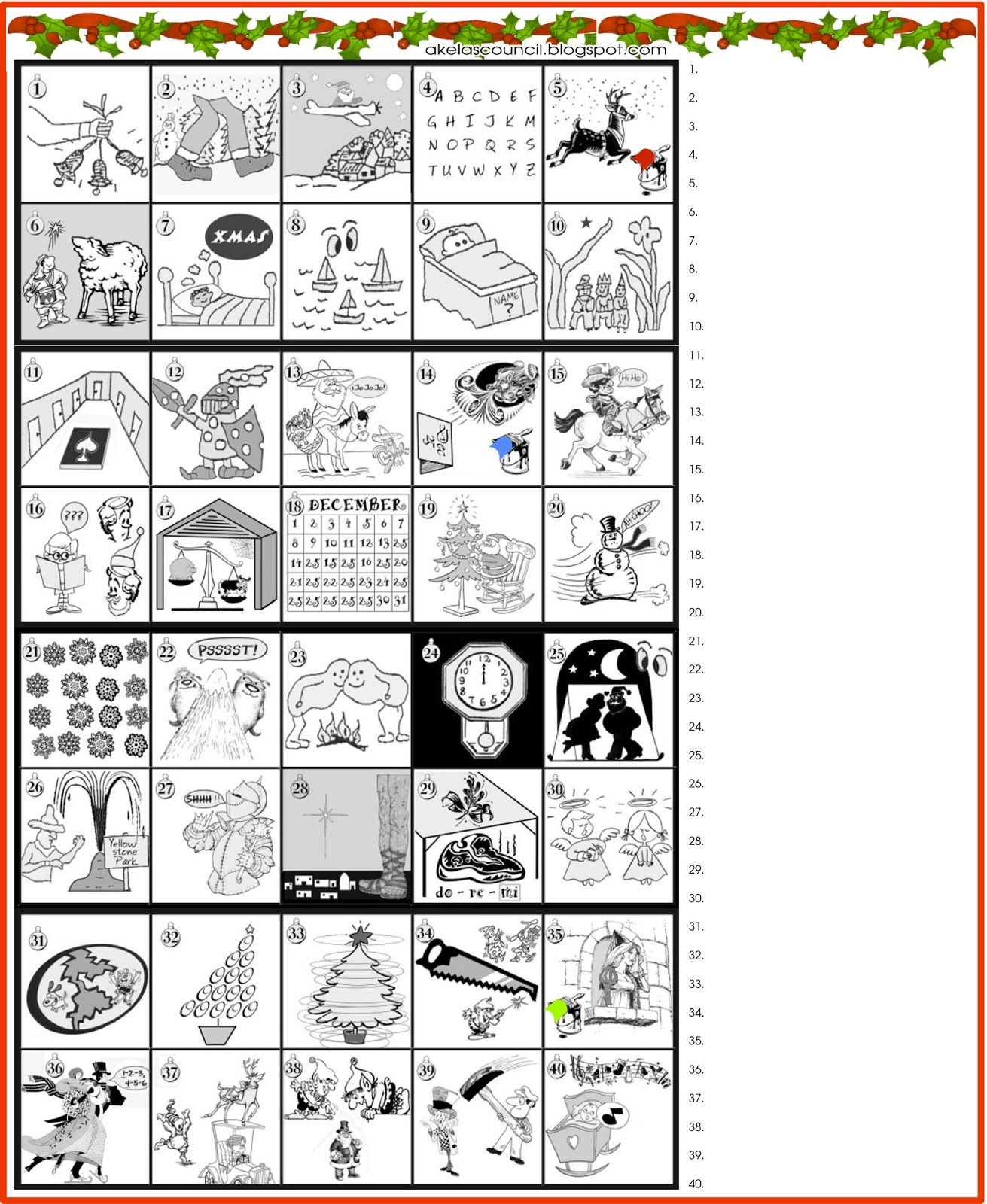 Printable * Guess The Christmas Songs Or Carols Word Puzzle - Free Printable Christmas Puzzles