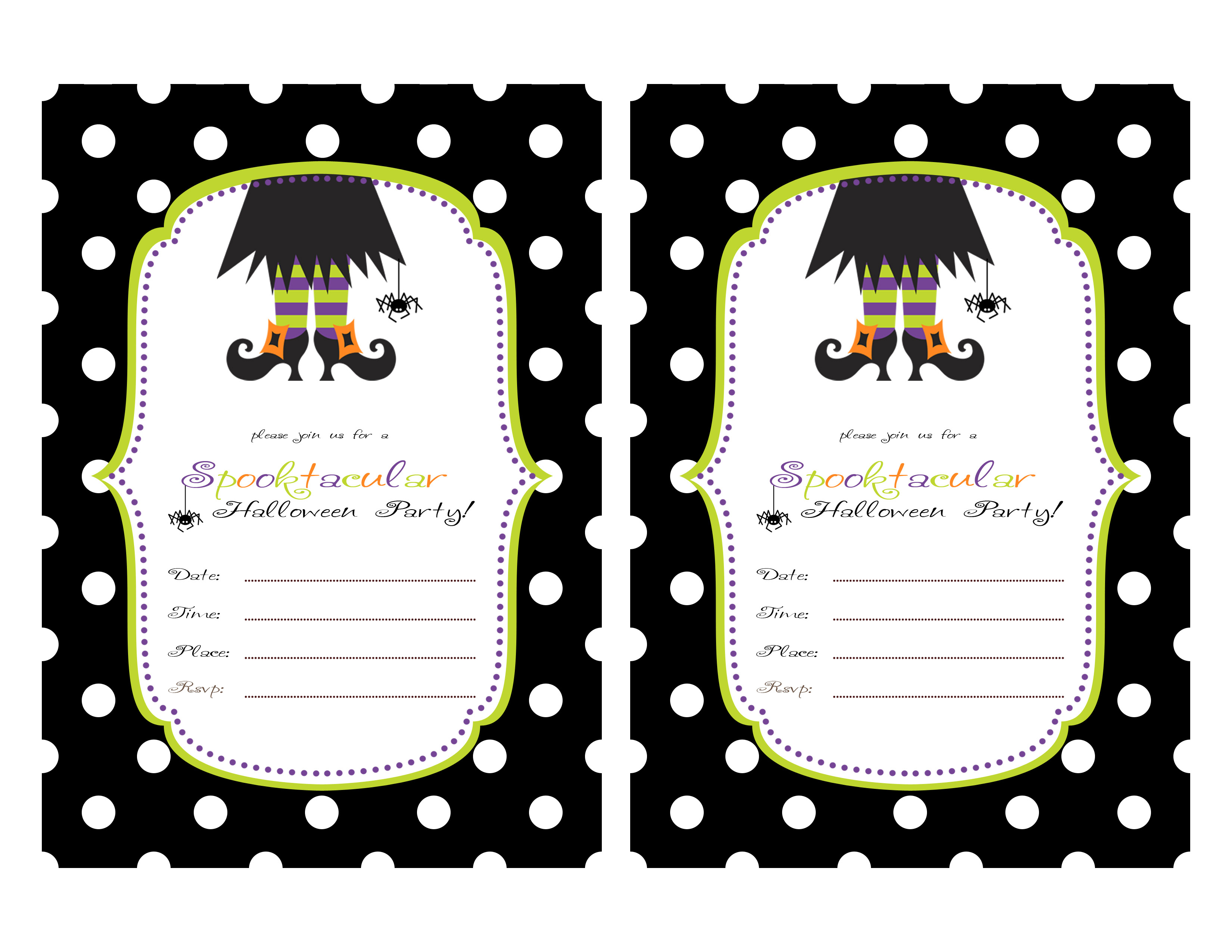 Printable Halloween Party Invitations For Kids 844 Kids Birthday - Free Printable Halloween Invitations