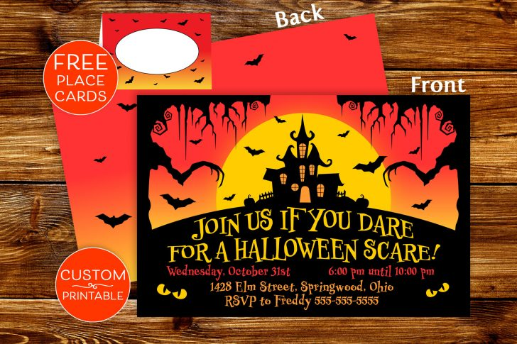 Free Printable Halloween Place Cards