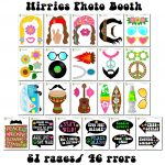 Printable Hippies Photo Booth Props/ 60's Photo Props In 2019   Free Printable 70's Photo Booth Props