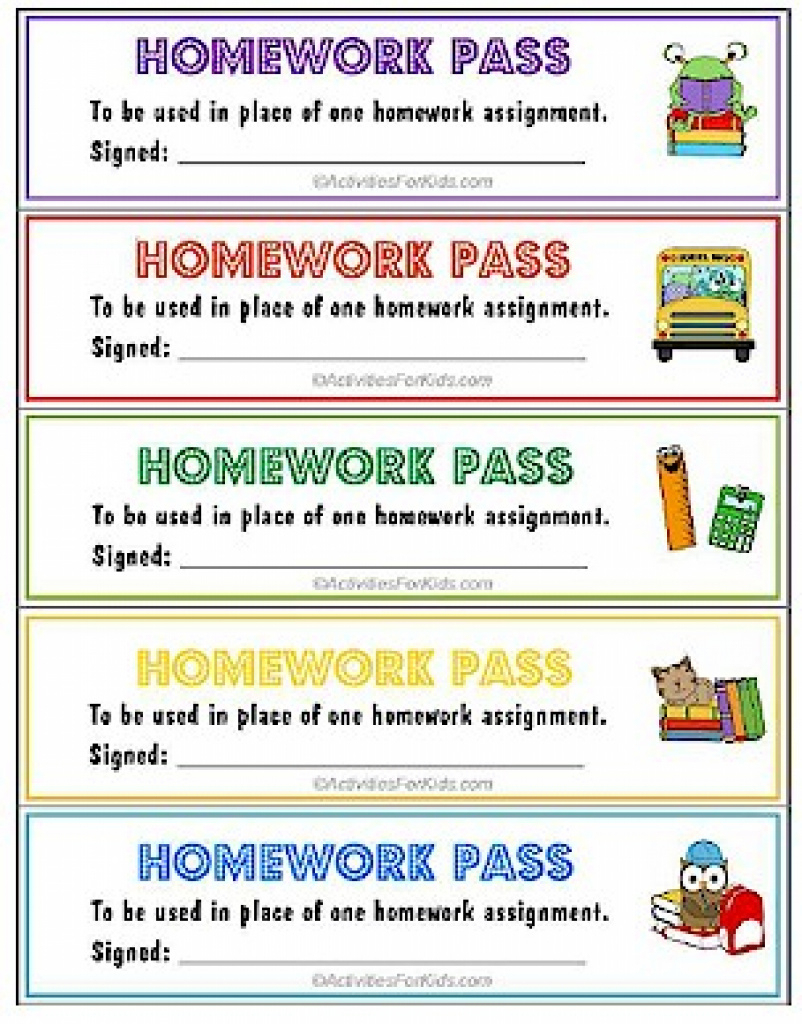 Printable Homework Pass - No Homework Coupons Throughout Get Out Of - Get Out Of Homework Free Pass Printable