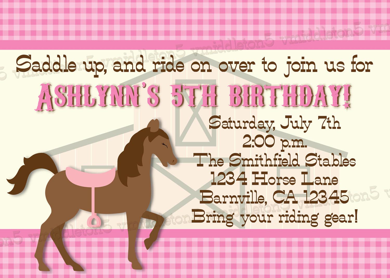 Printable Horse Birthday Party Invitations Free   Home Party Ideas - Free Printable Horse Themed Birthday Party Invitations