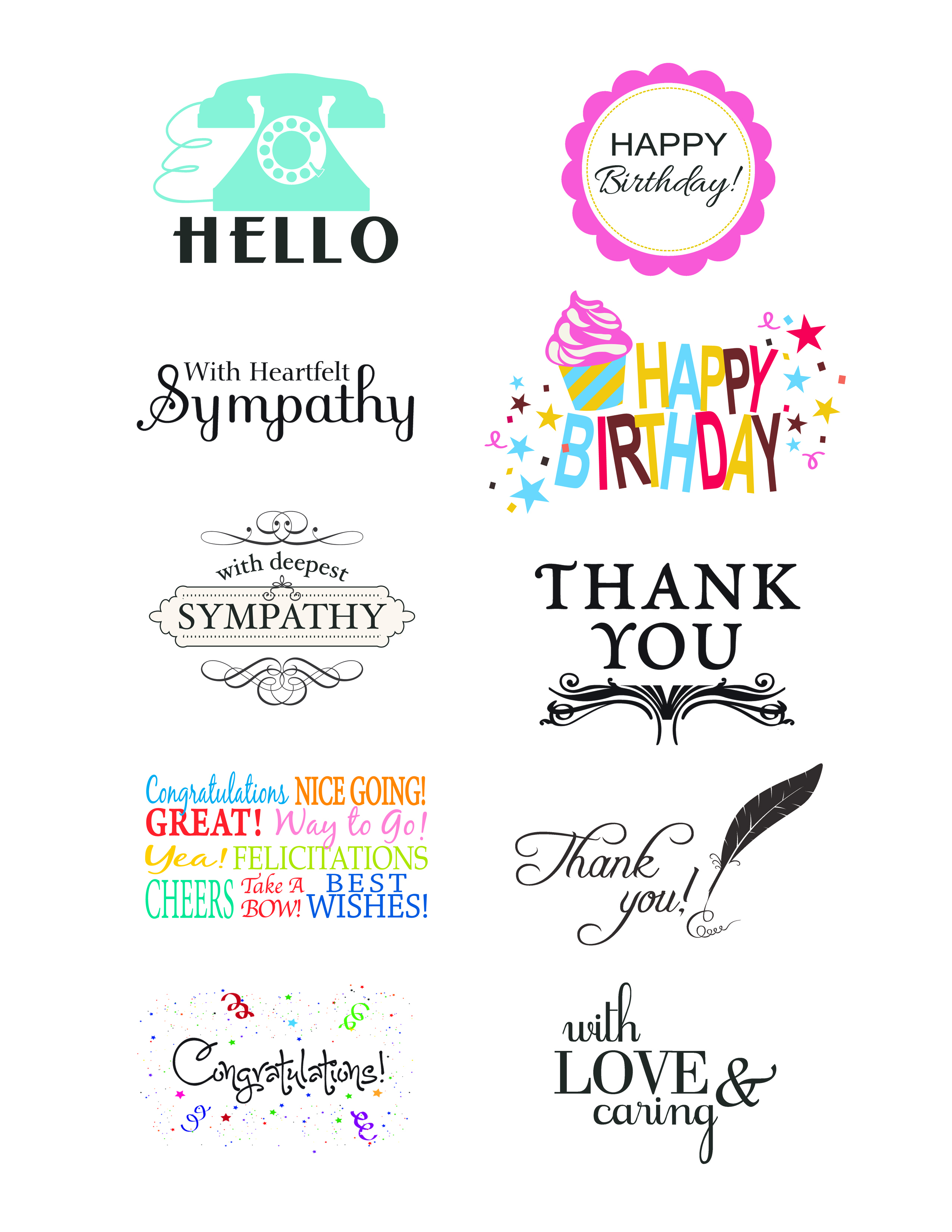 Printable Images For Card Making | Download Them Or Print - Free Card Creator Printable