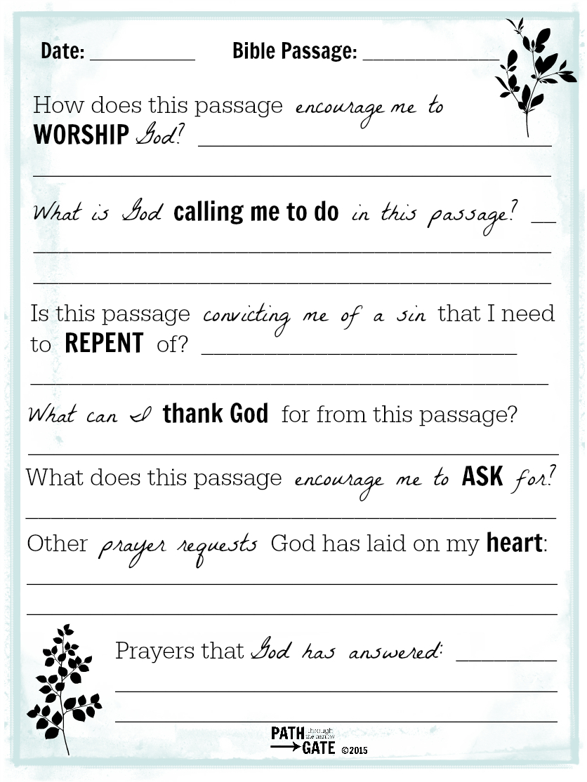 Printable Journal Pages About Bible Reading And Prayers | Scripture - Free Printable Bible Study Lessons With Questions And Answers