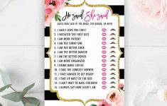 Printable-Kate-He-Said-She-Said-Template-Spade-Bridal-Shower-Games – He Said She Said Game Free Printable