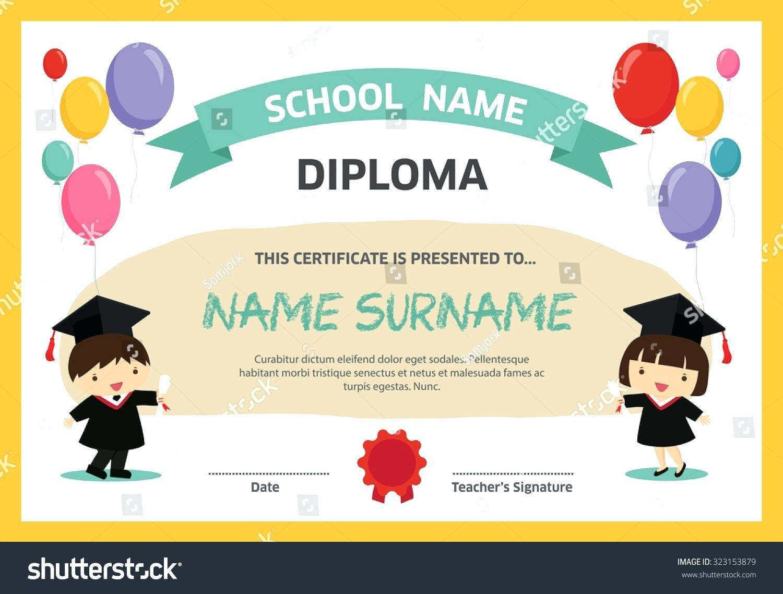 Printable Kindergarten Diploma Certificate - Preschool Graduation Diploma Free Printable
