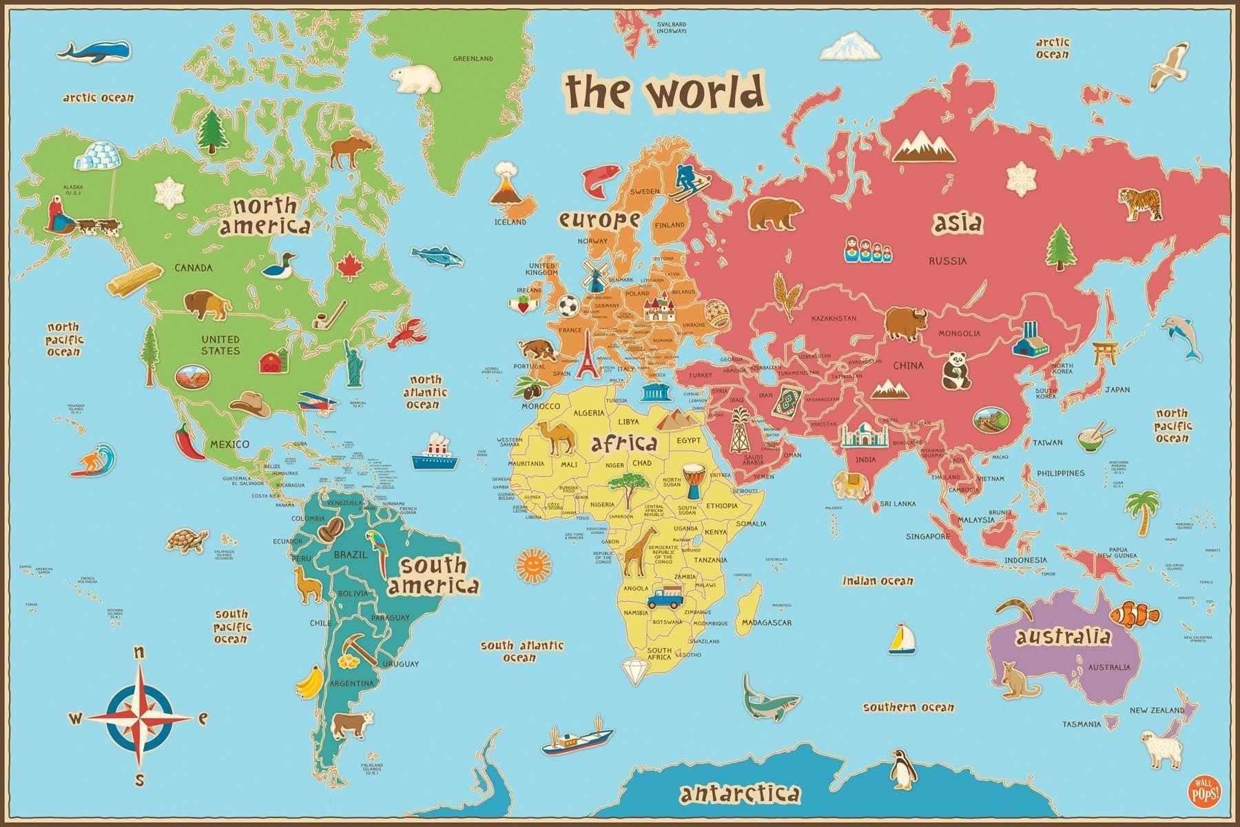 Printable Labeled World Maps - Lgq - Free Printable World Map