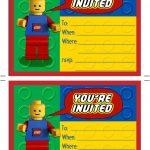 Printable Lego Birthday Invitations | Scribd | Aaron's Party In 2019   Lego Party Invitations Printable Free