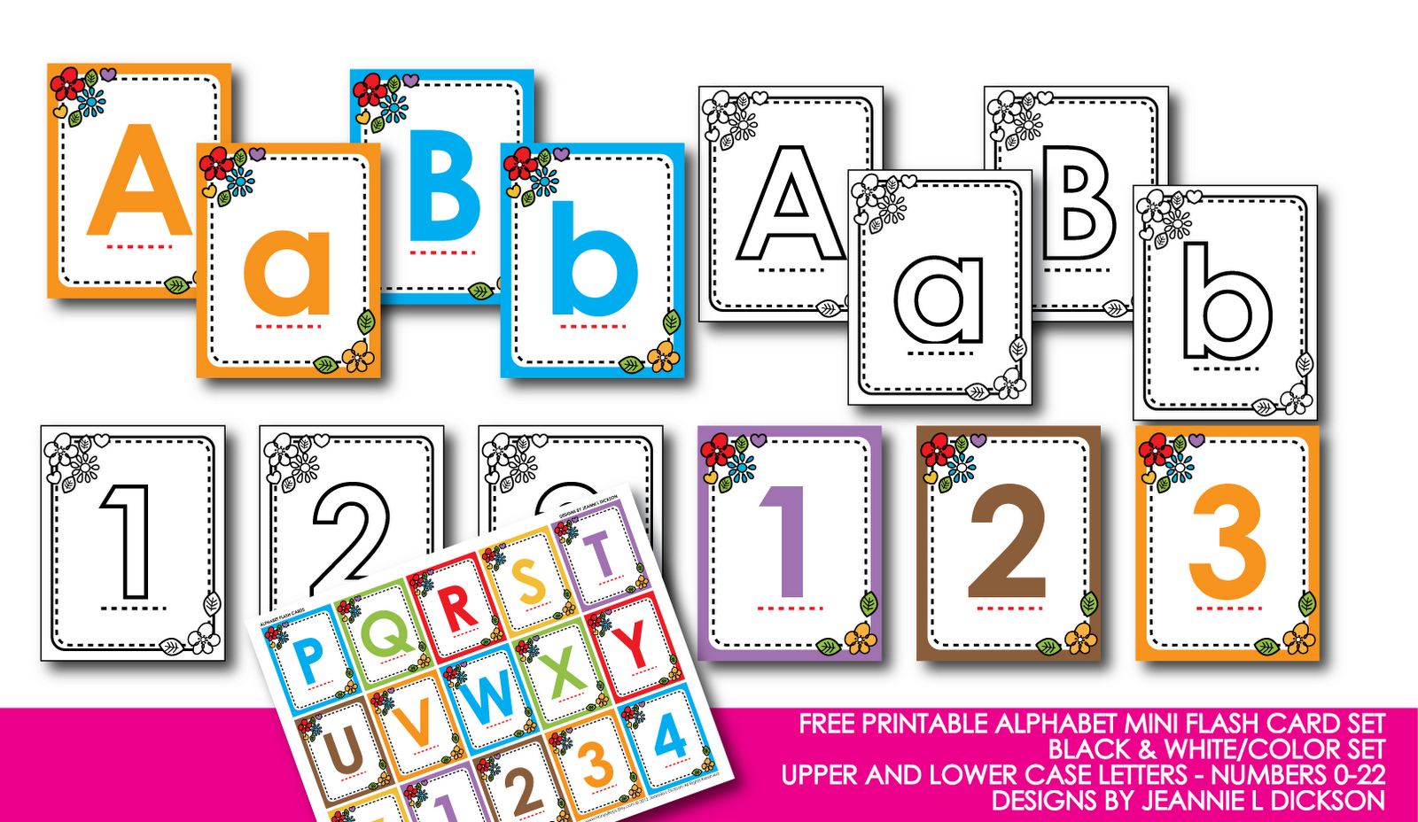 Printable Letters And Numbers - Childrenarepresent - Free Printable Letters And Numbers