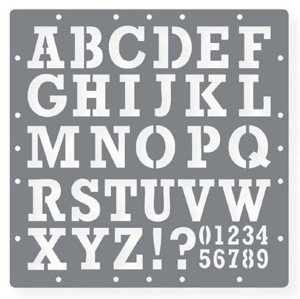 Printable Letters Stencil Of Alphabets, Numbers And Symbols - Free Printable Alphabet Stencils Templates