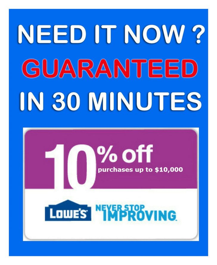 Free Printable Lowes Coupon 2014